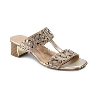Andrew Geller Henlie Women's Sandals Nude/Lt Gold