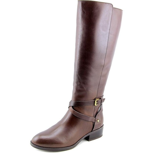 Lauren Ralph Lauren Mariah Wide Calf Dark Brown Boots