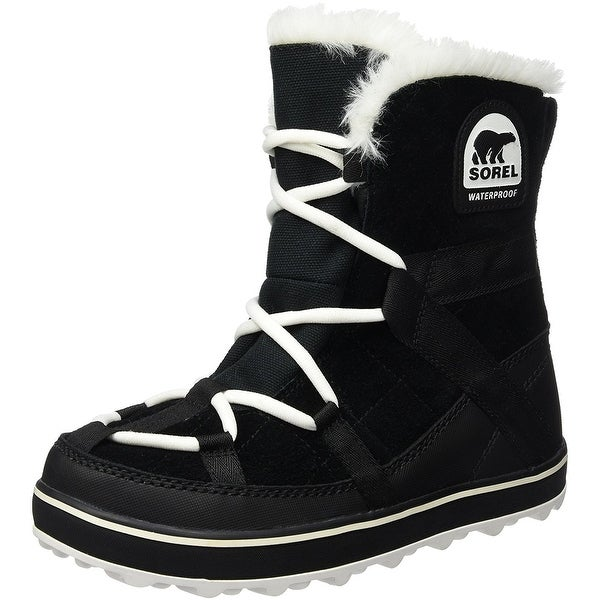 SOREL Womens glacy Suede Closed Toe Ankle Cold Weather Boots