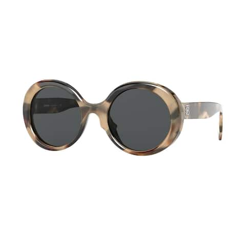 Burberry BE4314 350187 52 Spotted Horn Woman Round Sunglasses
