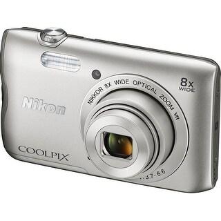 Nikon COOLPIX A300 Compact Digital Camera (Silver)