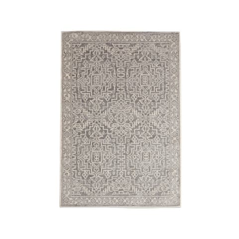LoomBloom Persian Polypropylene Fini Traditional Oriental Area Rug Gray, Beige Color