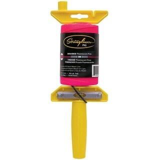 Stringliner 24462 LevelWiz Braided Mason Line & Reel, 500', Fluorescent Pink