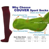 Maroon Couver Knee High Unisex Sports Athletic Baseball Softball Socks(3 Pairs)