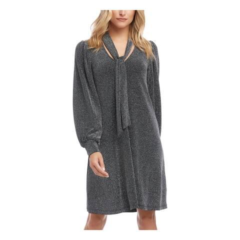 KAREN KANE Black Long Sleeve Short Dress XS