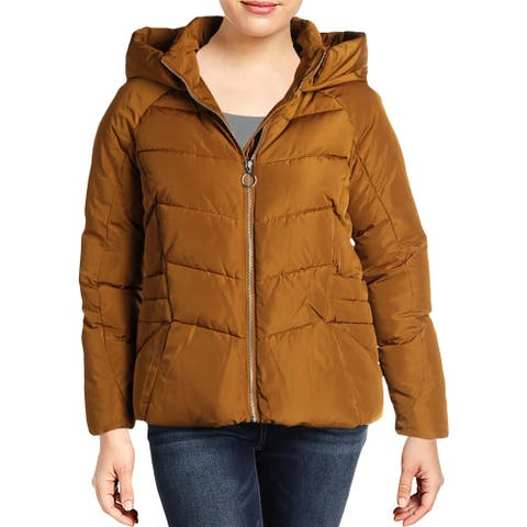 Marc New York by Andrew Marc Womens Basic Coat Winter Hooded