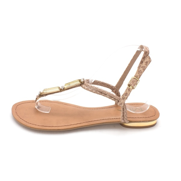 MIA Womens Issland Open Toe Beach T-Strap Sandals - 8