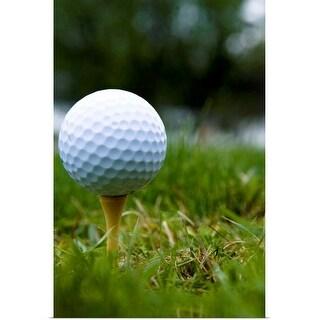 """""""Golf ball on tee"""" Poster Print"""