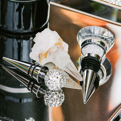 Sparkles Home Rhinestone Crystal-Filled Wine Stopper - N/A