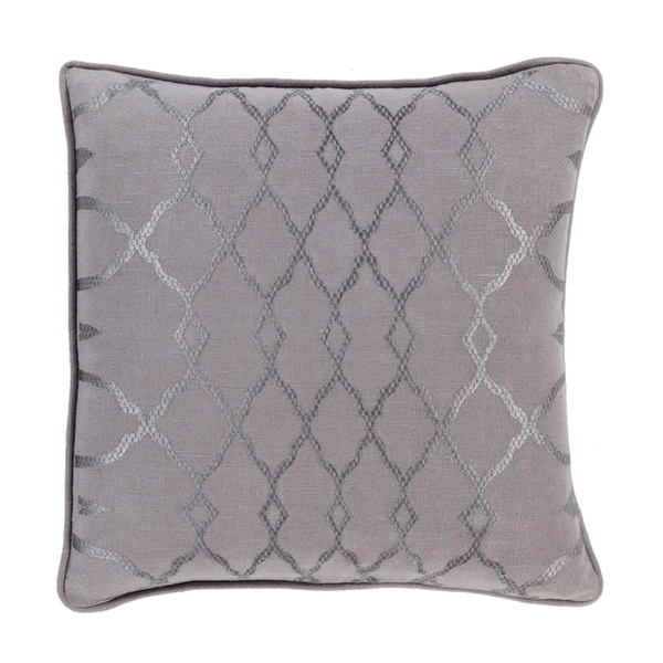 "20"" Diamond Elegance Charcoal and Dove Gray Decorative Throw Pillow"