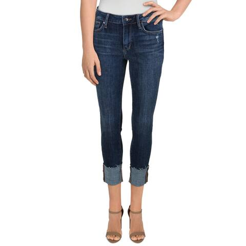 Joe's Jeans Womens Skinny Crop Jeans Mid-Rise Cuffed - Blue