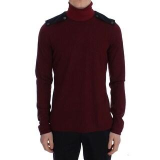 TOMMY HILFIGER TOMMY HILFIGER Bordeaux Wool Turtleneck Sweater