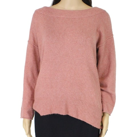 Democracy Women's Sweater Pink Size Large L Pullover Boat Neck Ribbed