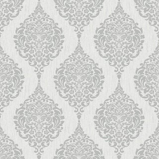 Graham and Brown 20-740  Luna Sparkling Tattoo Damask Vinyl Non-Pasted Wallpaper from the Midas Collection
