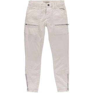 Joie Womens Park Skinny Twill Mid-Rise Skinny Jeans