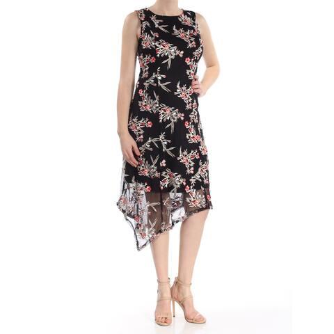 ALFANI Black Sleeveless Knee Length Fit + Flare Dress Size 8