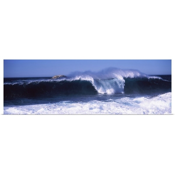 """""""Waves in the sea, Big Sur, California,"""" Poster Print"""