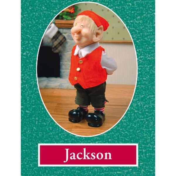 "10.5"" Zims The Elves Themselves Jackson Collectible Christmas Elf Figure - multi"