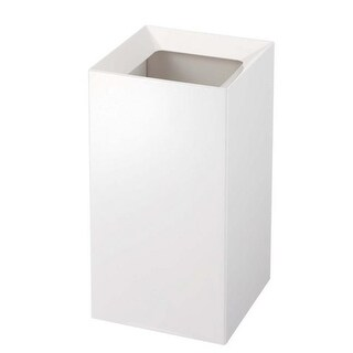 YAMAZAKI home 6947 7.1 x 7.1 in. Veil Trash Can - White