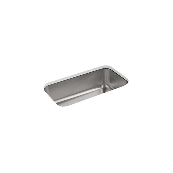 "Kohler K-5290 Undertone 31-1/4"" Undermount Single Basin Kitchen Sink with SilentShield� Technology - STAINLESS STEEL"