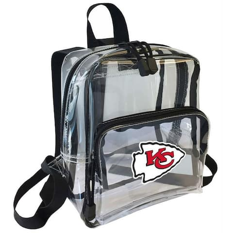"""Northwest NFL Kansas City Chiefs Clear Stadium Approved Mini Backpack X-Ray - 10"""" x 3"""" x 8"""""""