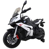 Costway Xmas Gift Kids Ride On Motorcycle Licensed BMW 12V Battery Powered Toy w/Training Wheel