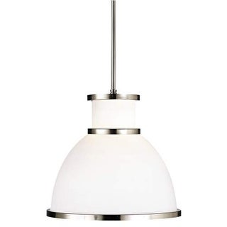"Forecast Lighting F46036 1 Light 15.25"" Wide Pendant from the Aurora Bell Collection - Satin Nickel"