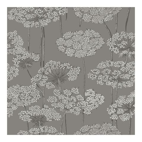 Ingrid Charcoal Dandelion Meadow Wallpaper - 20.9 x 396 x 0.025