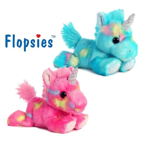 "Aurora Bright Fancies Blueberryripple Unicorn and Bright Fancies Jellyroll 7"" Unicorns Plush (2 Items)"