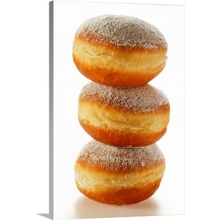 """""""Doughnuts with icing sugar, in a pile"""" Canvas Wall Art"""