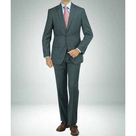 Carlo Studio Grey Pinstripe Modern-Fit Suit