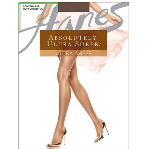 Hanes Absolutely Ultra Sheer Control Top Reinforced Toe