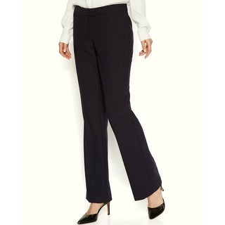 Anne Klein NEW Solid Deep Black Women's Size 6X32 Straight Dress Pants