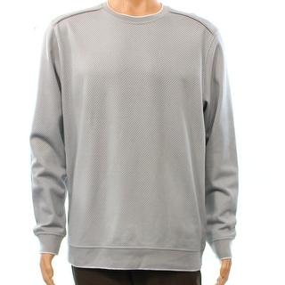 Tasso Elba NEW Gray Mens Size Medium M Jacquard Knit Crewneck Sweater