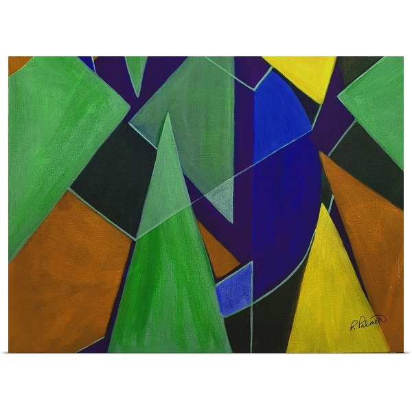 """""""Triangle Abstract Blue Orange"""" Poster Print"""