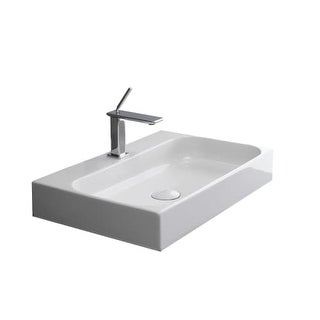 "WS Bath Collections Unit 80 31-7/10"" Ceramic Wall Mounted / Vessel Bathroom Sink from the Unit Collection"