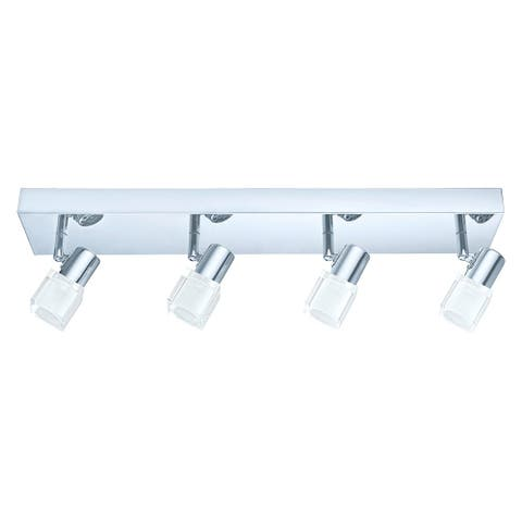Eglo Norcera 4-light Chrome Track Light