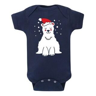 Polar Bear With Santa Hat - Infant One Piece