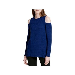Calvin Klein Performance Womens Sweatshirt Marled Cold Shoulder