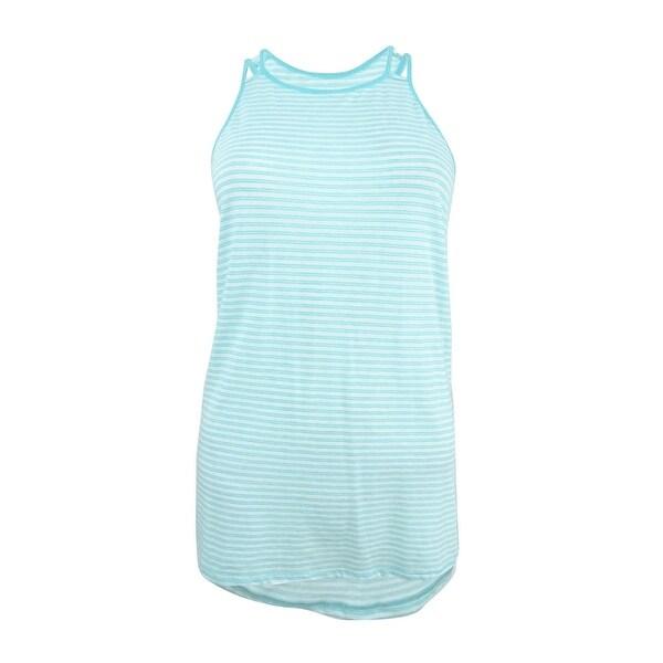 570c2ebd Tommy Hilfiger Women's Double-Strap Striped High-Low Tank Top - Malibu Blue