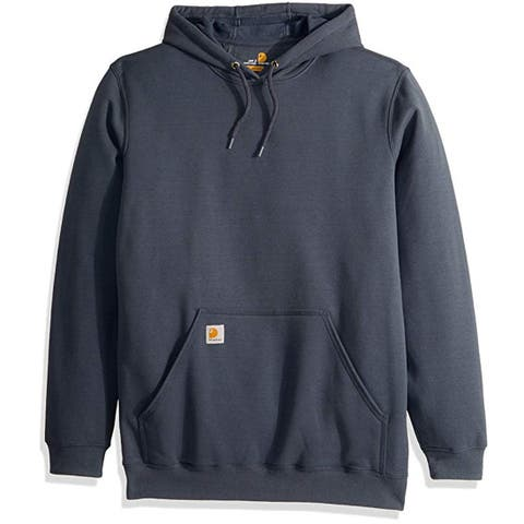 Carhartt Men's Midweight Original Fit Hooded Pullover Sweatshirt, Bluestone, XL