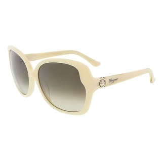 Salvatore Ferragamo SF707S 103 Ivory Oversized   sunglasses - 59-16-130