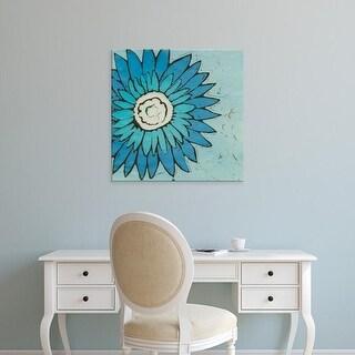 Easy Art Prints Andrea Davis's 'Turquoise Batik Botanical III' Premium Canvas Art