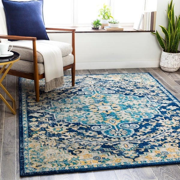 Addie Boho Persian Medallion Area Rug. Opens flyout.