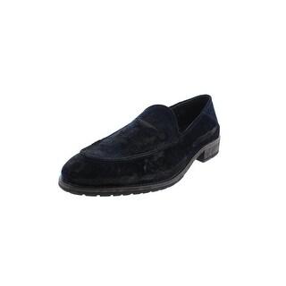 Donald J. Pliner Mens Zvian Loafers Velvet Distressed - 9 medium (d)
