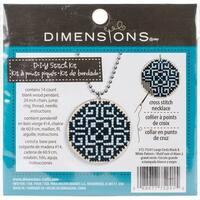 Dimensions Large Circle Pendant-Black & White