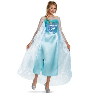 Disguise Elsa Deluxe Adult Costume - Blue