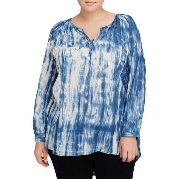 Beach Lunch Lounge Womens Plus Blouse Rayon Printed
