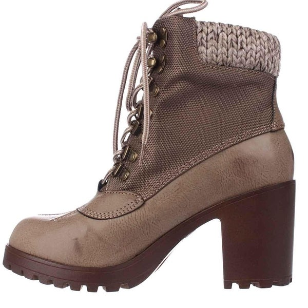 ROCK & CANDY Womens MILA Fabric Almond Toe Ankle Platform Boots