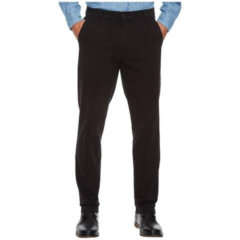 Dockers Jet Black Mens Size 38X32 Slim Tapered Khakis Stretch Pants